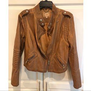 Vegan Leather Moto Jacket, Size Medium
